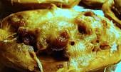 Pečené plněné brambory