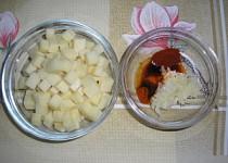 Pikantní sýrové kostky