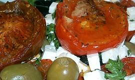 Salát z pečených rajčat