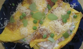 Slané plnené omelety