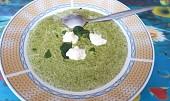 Špenátová polévka se žampiony