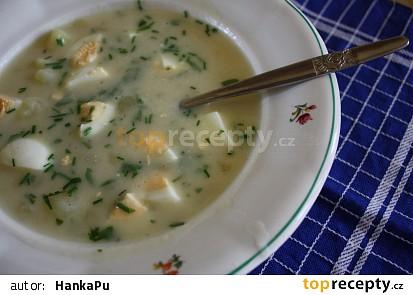 Sýrová polévka s vejci