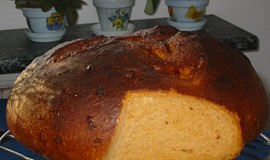 Sýrový chléb s kečupem