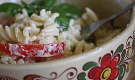 Těstoviny s bazalkou