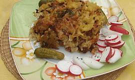 Těstoviny zapečené se sýrem a šunkou