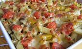 Tuňákové těstoviny se sýrem a pestem