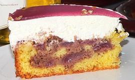 Višňovo-smetanový dort