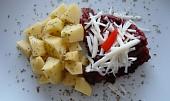 Zapečené rybí filé s rajčatovým kečupem a křenem