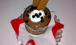 Borůvkovo-čokoládový pudink
