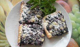 Borůvkový koláč s perníkem