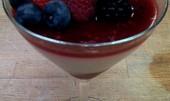 Krém Panna Cotta s ovocem