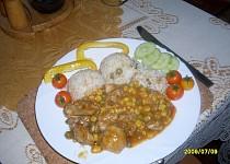 Kuřecí maso s mexickou zeleninovou směsí