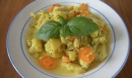 Květák a mrkev s  curry
