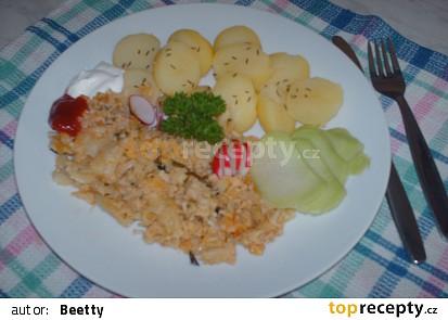 Květák s kečupem a česnekem