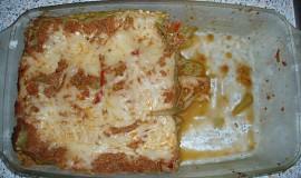 Lasagne zapečené s masem