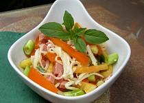 Paprikový salát se salámem