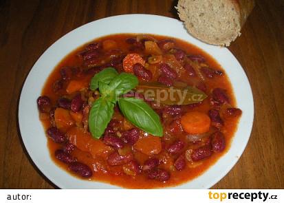 Pečené fazole s mrkví