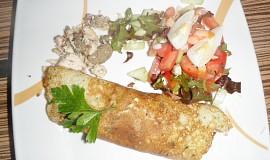 Pečeňová pochúťka v zemiakovej placke s hranolkami