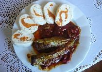 Plněné papriky v římském hrnci