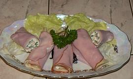 Šunkovo - sýrové rolky