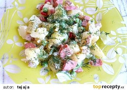 Bramborový salát se zeleninou