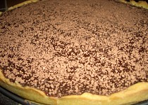 Kolac s horkou cokoladou