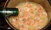 Krevety na víně