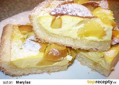 Linecký koláč s tvarohem