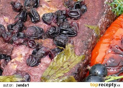 Lososový steak s černým rybízem
