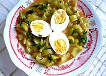 Paprikový guláš s vejci