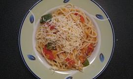 Špagety s červenou čočkou