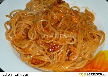 Špagety s ostrou omáčkou