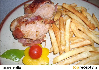 Vepřová panenka na slanině