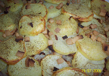 Zapečené brambory s hlávkovým zelím