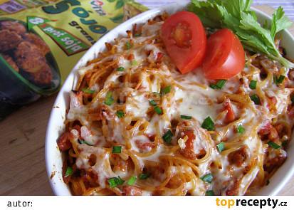 Zapečené špagety se sójou