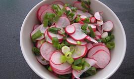 Cibulový salát s ředkvičkou