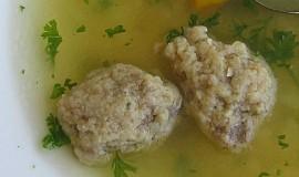 Knedlíčky do polévky z králičích jater
