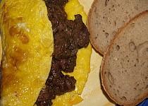 Kuřecí játra v omeletě