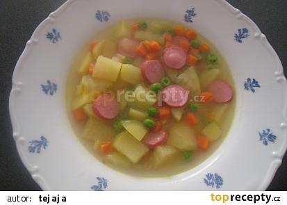 Mrkvovo-hrášková polévka s kari