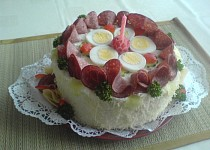 Pečený chlebový dort