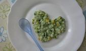 Pro nejmenší - Těstoviny s ementálem,špenátem a sl.kukuřicí