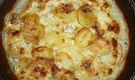 Smetanové brambory s rozmarýnem a šunkou
