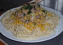 Špagety se sledi