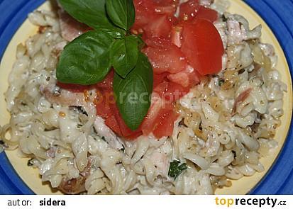 těstoviny s gorgonzolou