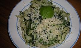 Těstoviny se špenátem