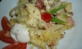 Zapečené brambory se slaninou