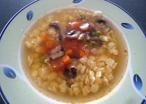 Zeleninová polévka se žampiony