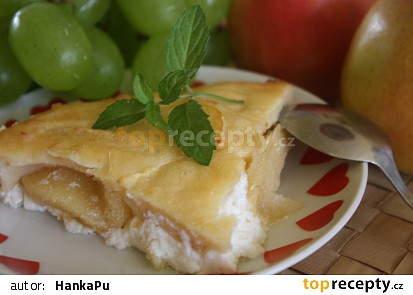 Jablka zapečená s tvarohem