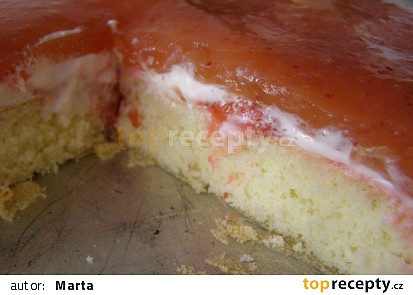 z poloviční dávky v dortové formě