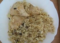 Kuře s houbovočesnekovou rýží